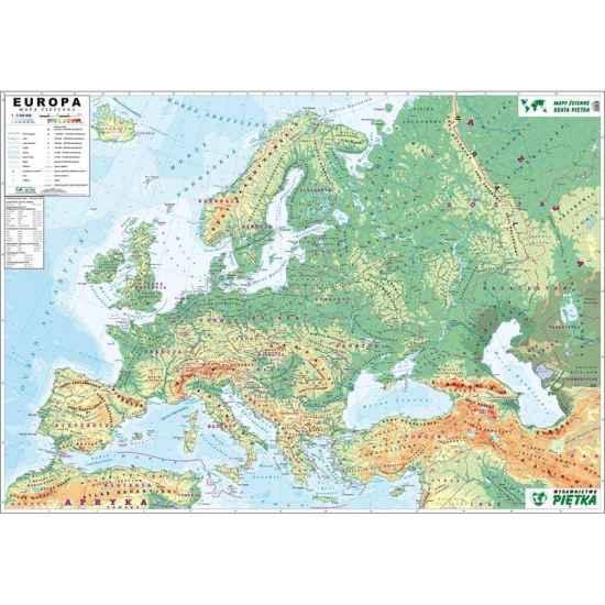 Mapa Scienna Europy Fizyczna Konturowa 1 3 3 M Pi027 199 00